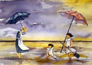Hermi Kürner, Strandszene aus den 30iger Jahren