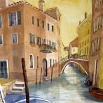 Hermi Kürner, Aquarell, Venedig