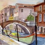Hermi Kürner, Aquarell Venedig