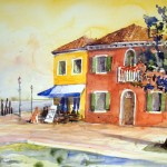 Hermi Kürner,Aquarell, Venedig, Burano