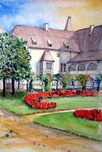 Hermi Kürner, Aquarell Welser Burg