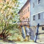 weinbergmühle aquarell